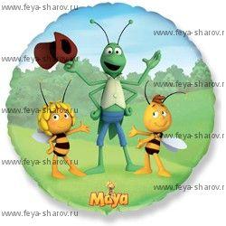 Шар фольгированный Пчелка Майя 46 см
