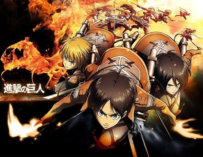 "Плакаты по аниме ""Attack on Titan"""