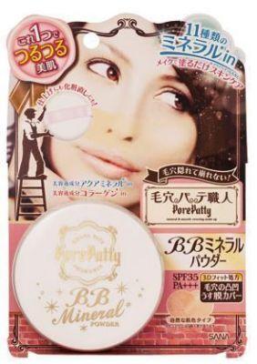 Минеральная компактная ВВ-пудра Sana Pore Putty BB Mineral Powder