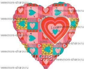 Шар сердечко Love