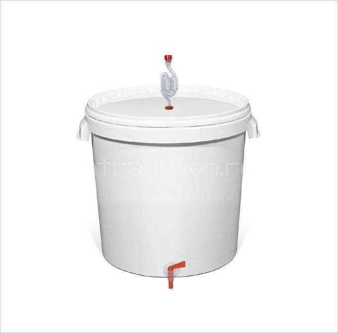 Емкость для брожения, в комплекте с краном и гидрозатвором, 32 л.