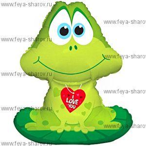 Лягушка с сердечком (81 см)