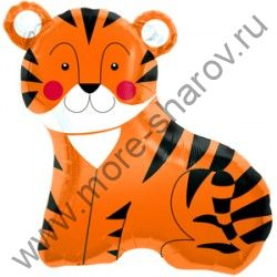 Шар фольгированный Тигр 84 см