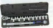AQC-S001NM Динамометрический ключ с микрометром 40-210Нм, в наборе 11пр. Licota