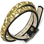 Декорированный кожаный браслет и чокер