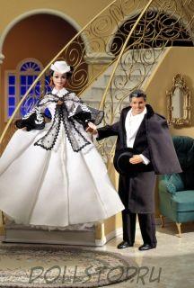 Barbie Doll as Scarlett O'Hara (black and white dress) 1995, Барби Скарлетт в бело-черном платье