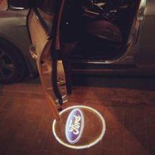 """LED проекция логотипа Ford, """"приветственный свет"""",  на 2 двери"""