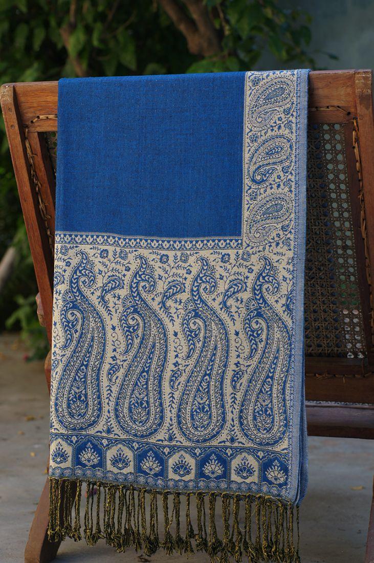Контрастный двухсторонний шарф (отправка из Индии)