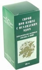 СИРОП  ПРИ  КАШЛЕ  С  ИСЛАНДСКИМ  МХОМ  (ЭКОС)  100МЛ.