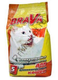 Brava Брава комкующийся для длинношерстных кошек