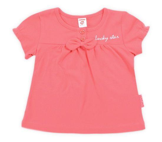 Розовая блуза для девочки с бантиком