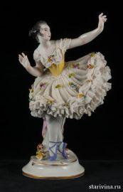 Балерина, кружевница, Volkstedt, Германия, до 1935 года., артикул 00484