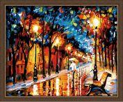 """Раскраска по номерам """"Дождливая осень"""""""