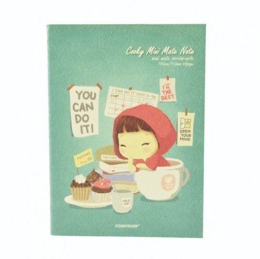 """Мини-тетрадь """"Cooky Mini Mate Note"""" - Mint"""