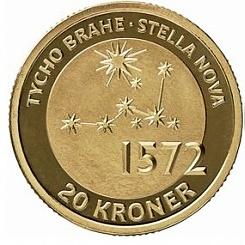 Тихо Браге (1546-1601)  20 крон Дания 2013