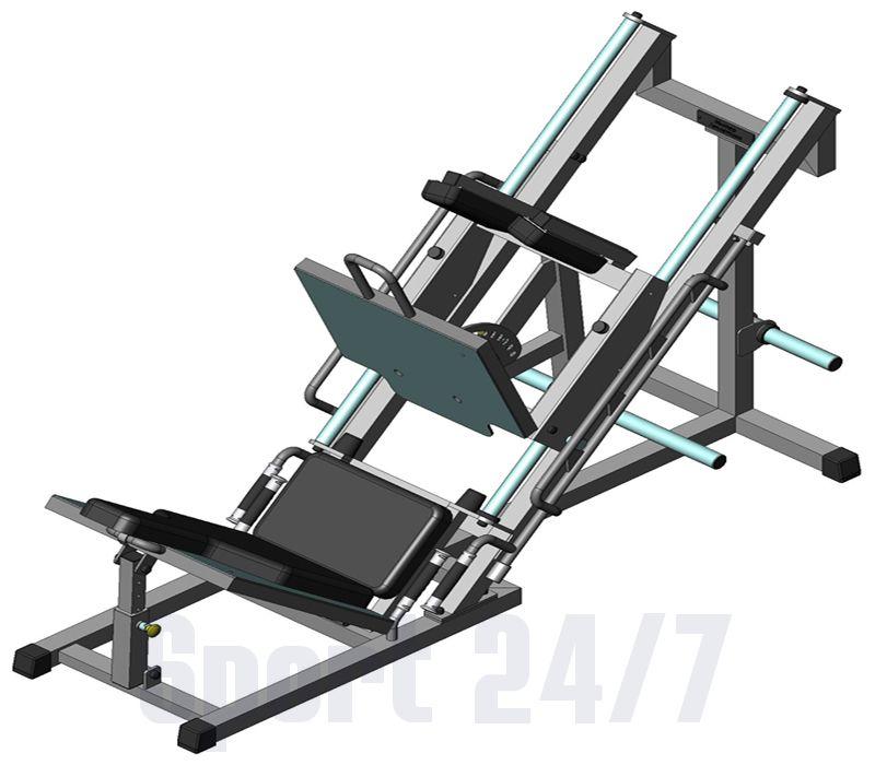 Тренажер - СТ-202.1 Жим ногами -Гак машина (комбинированный) V-sport