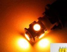 Лампы светодиодные, 5 LED, в передние габариты