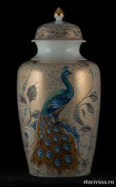 Декоративная ваза с крышкой в китайском стиле, Kaiser, Германия, 1970 гг