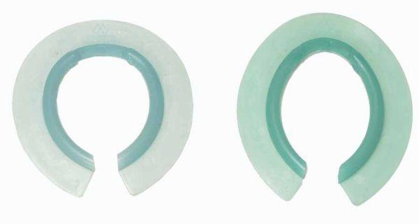 Фильцы противоснежные из силикона Mustad. Перед и зад.