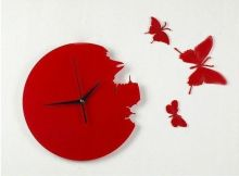 """Часы дизайнерские настенные """"Бабочки"""""""