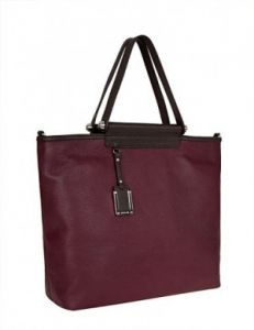 Большая бордовая сумка