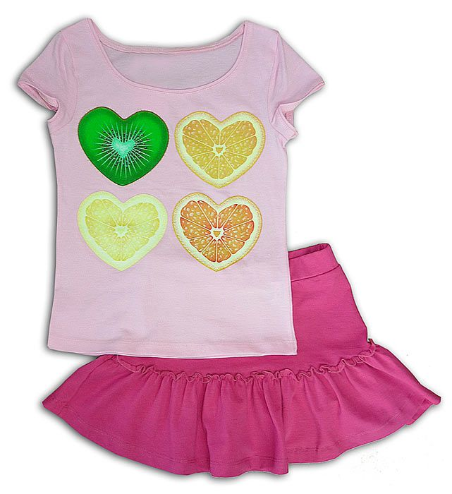 Комплект для девочки Фруктовые сердечки