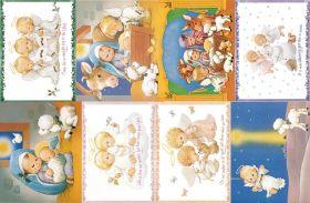 Водорастворимая бумага с рисунком Рождественские ангелочки 216х139мм