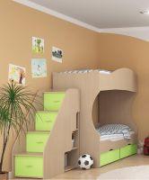 Кровать двухъярусная Дельта №20 с лестницей-тумбой