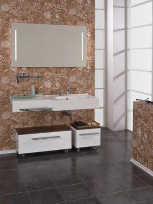Мебель для ванной комнаты Акватон Отель  127 набор (раковина зеркало)