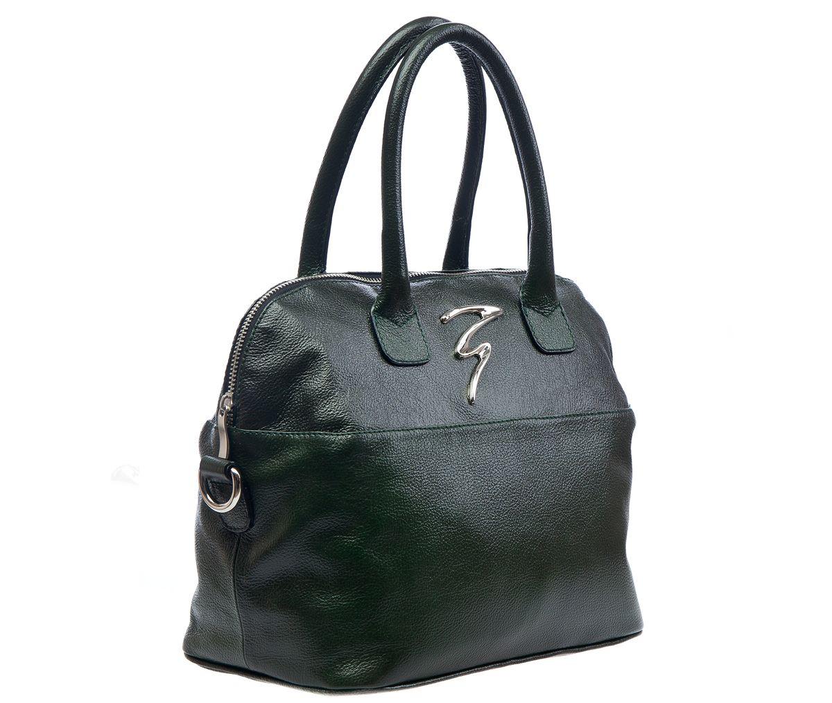945debc0e0e5 Тёмно-зелёная кожаная сумка - Купить тёмно-зелёную кожаную сумку