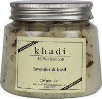 Khadi Herbal Lavender Basil Bath Salt