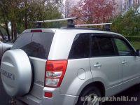 Багажник на крышу на Suzuki Grand Vitara (Атлант, Россия), аэродинамические дуги