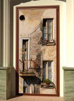 Наклейка на дверь  - Балкон | магазин Интерьерные наклейки