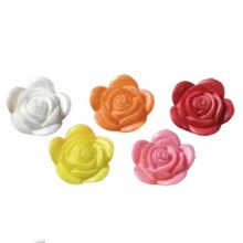 Вафельный цветок ШИПОВНИКА 3,7см 5шт/уп