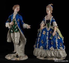 Пара в синих костюмах, Дрезден, Германия, сер 20 века
