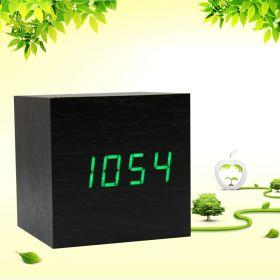 """Деревянные часы """"Куб"""""""