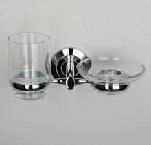 Держатель стакана и мыльницы WasserKraft Серия Rhein прозрачное стекло