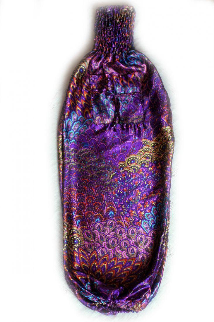 Фиолетовые атласные шаровары (отправка из Индии)