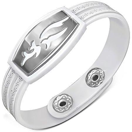 Белый каучуковый браслет