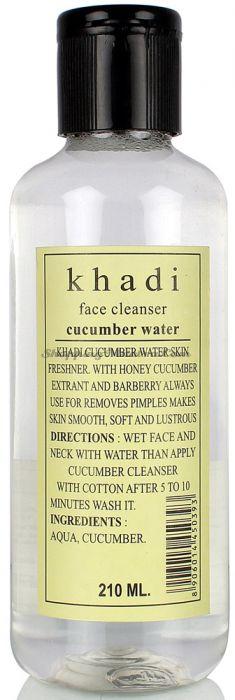 Натуральный тоник для очищения кожи лица Огурец Кхади (Khadi Cucumber Water Toner)