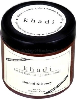 Скраб для лица Миндаль&Мед с алое вера Кхади (Khadi Almond&Honey Facial Scrub)