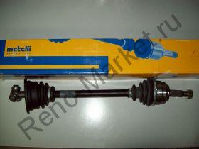 Привод колеса в сборе левый без ABS (Symbol) Metelli 17-0395 аналог 7700108248, 7701056621