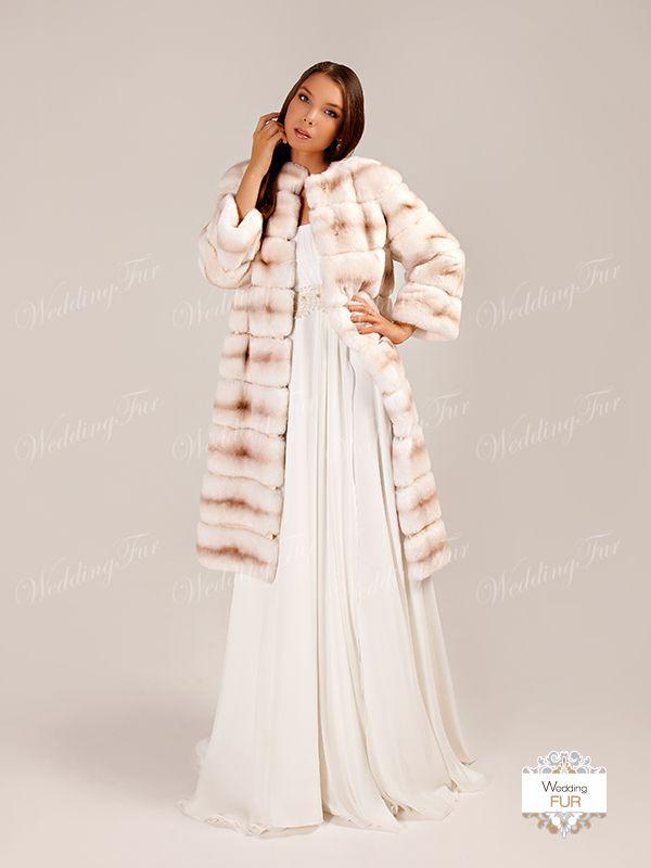 """Свадебное пальто из меха """"Рекс"""". В наличии образец не продается"""