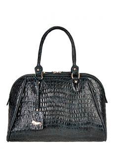 Чёрная сумка с брелком