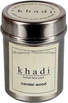 Натуральная маска для лица Сандаловое дерево Кхади (Khadi Sandalwood Herbal Face Pack)