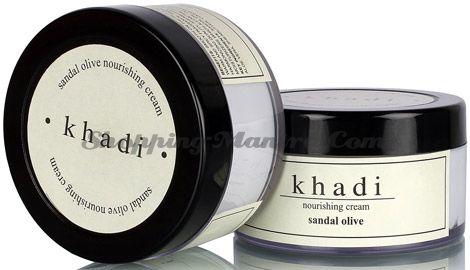 Питательный крем для лица Сандал&Олив с маслом ши Кхади(Khadi Herbal Sandal&Olive Cream)