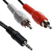 кабель 3,5 мм и 2 RCA