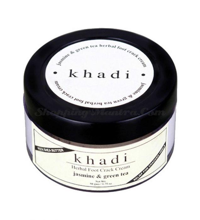 Крем для ног против трещинок и ранок Жасмин&Зеленый чай Кхади (Khadi Foot Crack Cream)