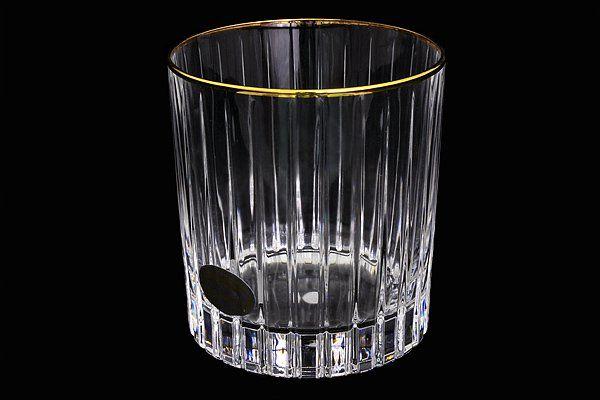 """Набор: 6 хрустальных стаканов для виски (0,25л)  """"Пиза золото"""""""