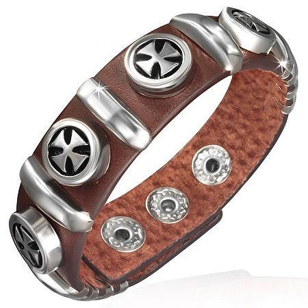 Мальтийский кожаный браслет